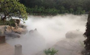 梅州神光山湿地公园人造雾景观喷雾系统