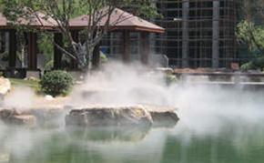 水系公园广场景区造雾