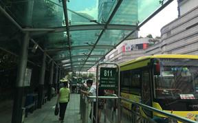 广州天河公交站场喷雾降温