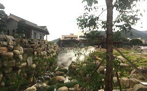 云浮禅泉大酒店园林人造雾景观喷雾工程