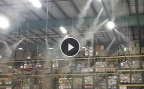 名创优品物流中心仓库喷雾降温