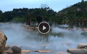 梅州神光山湿地公园景观喷雾