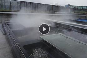 江西新余玻璃屋顶喷雾降温