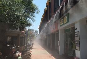 肇庆怀集城中新街喷雾降温工程