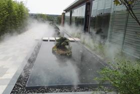 江西新余室外花园景观造雾工程
