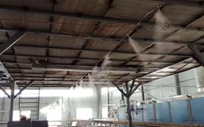 中东沙特国家陶瓷厂车间喷雾降温工程