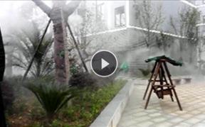 湖北襄阳绿谷广场喷雾降温造景工程