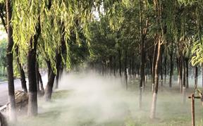 盘锦大洼东湖公园冷雾造景设备