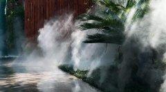 夏日清凉的秘密 | 室外空调景观造雾设备