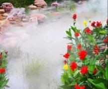 人造雾景观喷雾浑然天成 如梦如幻