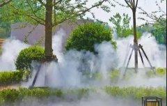 游乐场人工湖人造雾造景喷雾